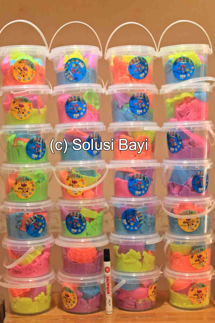 jual kinetic sand pasir kinetik playsand mainan edukatif anak www.solusibayi.com 1 tag
