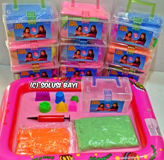 pasir kinetik jumbo mainan edukatif anak kinetic sand isand playsand model sand motion sand moving sand solusibayi 1