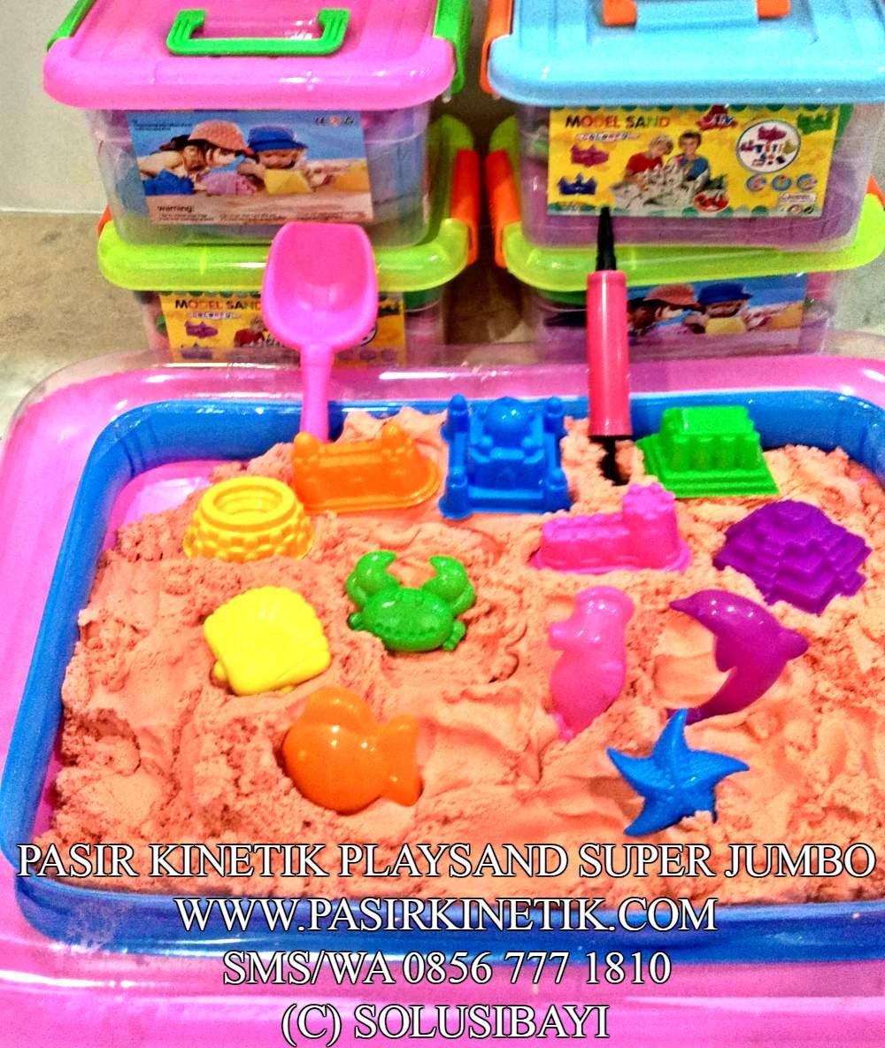 pasir kinetik kinetic sand pasir ajaib mainan edukatif anak 12 SUPER JUMBO SOLUSIBAYI1