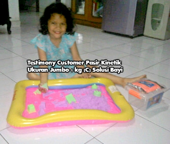 Testimony Customer pasir Kinetik Playsand Kinetic Sand Motion Sand Isand Model Sand Solusi Bayi MartinaNugroho