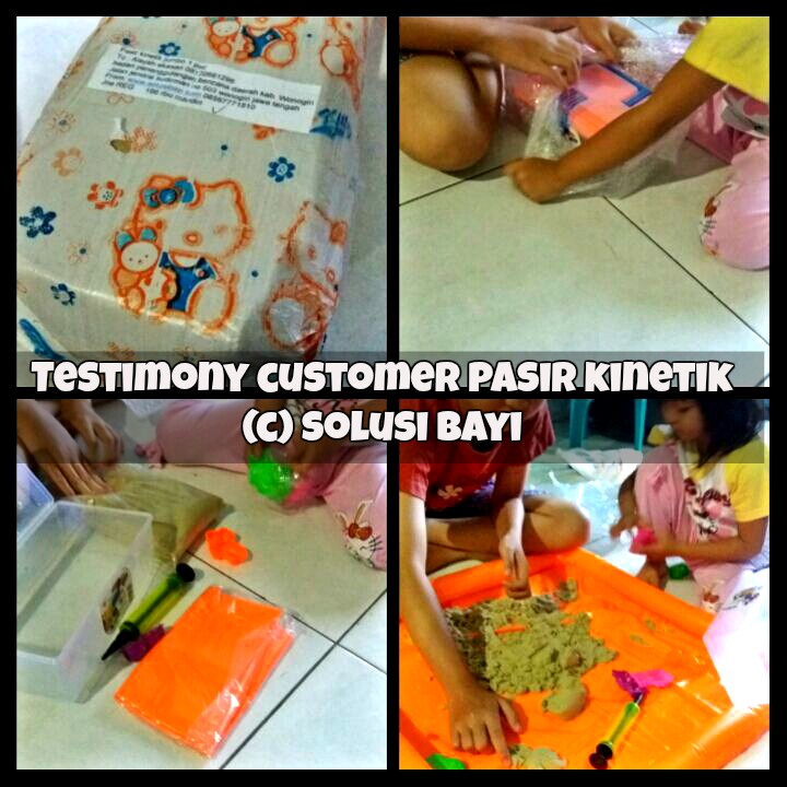 testimony customer pasir kinetik kinetic sand jual mainan edukatif anak mei 2016 part 2