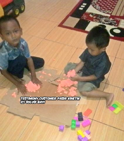 testimony customer www.pasirkinetik.com solusi bayi mainan edukatif anak pasir kinetik super jumbo kinetic sand playsand model sand motion sand isand 10