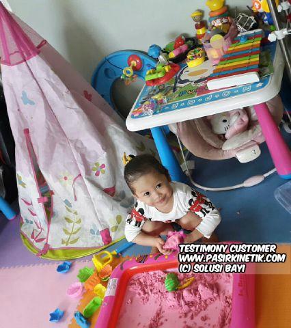 testimony customer www.pasirkinetik.com solusi bayi mainan edukatif anak pasir kinetik super jumbo kinetic sand playsand model sand motion sand isand 4