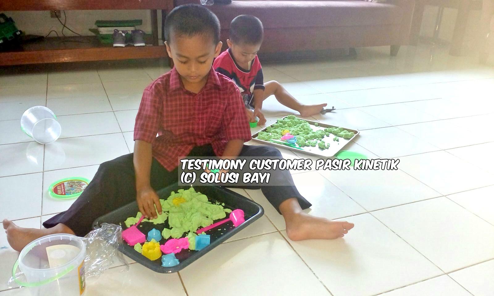 testimony customer www.pasirkinetik.com solusi bayi mainan edukatif anak pasir kinetik super jumbo kinetic sand playsand model sand motion sand isand 7
