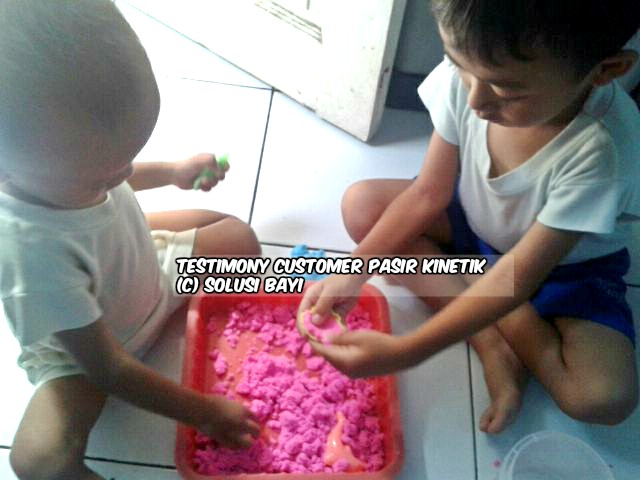 testimony customer www.pasirkinetik.com solusi bayi mainan edukatif anak pasir kinetik super jumbo kinetic sand playsand model sand motion sand isand 8